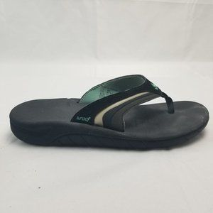 Reef Flip Flop Sandals Black SZ 8